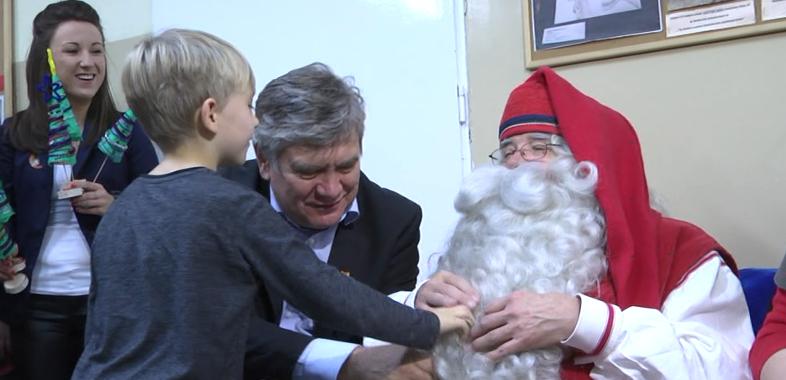 Prawdziwy Mikołaj na oddziale w Rafałówce