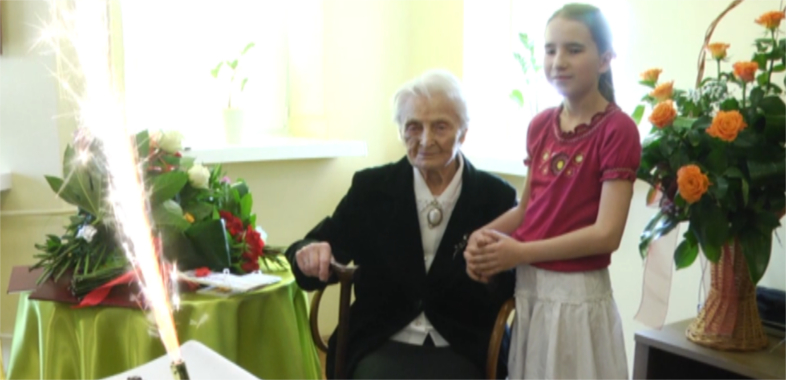 Sto lat świętowała mieszkanka sieradzkiego DPS