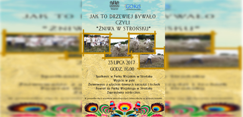 Żniwa w Strońsku – ogłoszenie