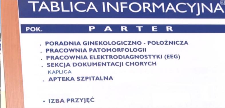 Pacjentki szpitala w Łasku okradane w trakcie badań