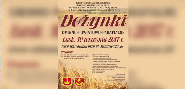 Dożynki Gminno-Powiatowo-Parafialne w Łasku – zaproszenie