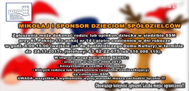 """Sieradzka Spółdzielnia Mieszkaniowa – """"Mikołaj i sponsor dzieciom spółdzielców"""