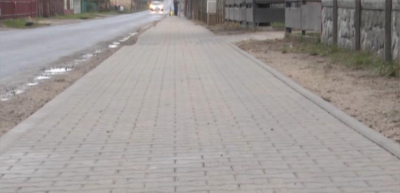 Oddanie chodnika w Wiechucicach