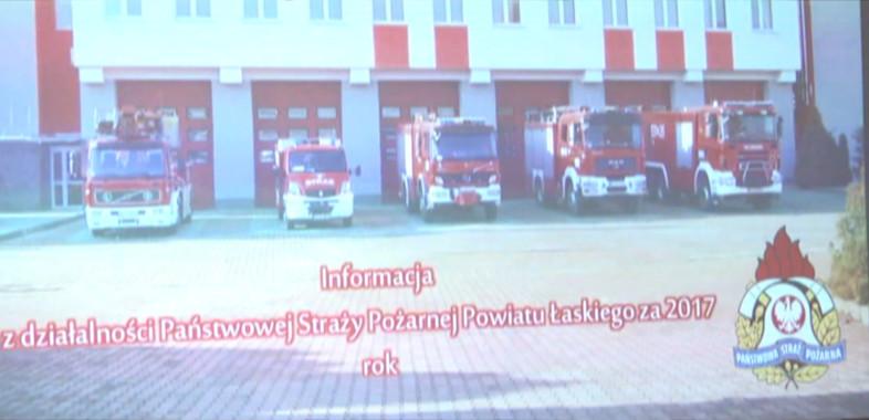 Podsumowanie roku przez policję i straż pożarną w Łasku