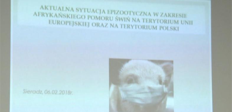 "Konferencja pn. ""Afrykański pomór świń"""