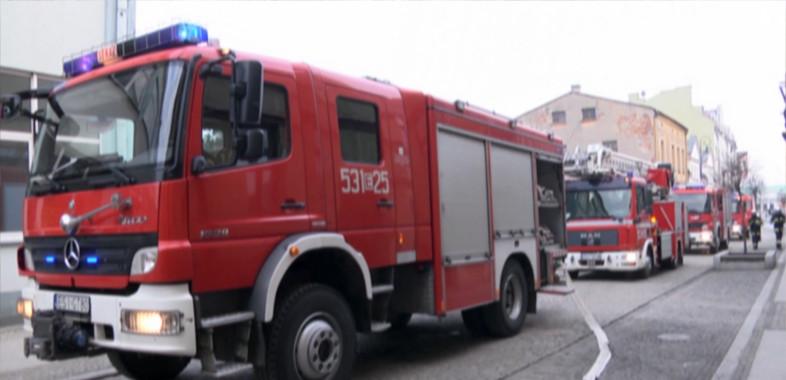 Interwencja Straży Pożarnej na ul. Dominikańskiej w Sieradzu
