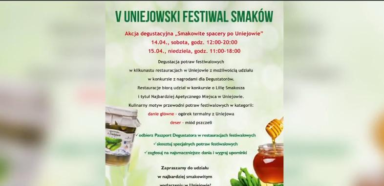V Festiwal Smaków w Uniejowie – ogłoszenie