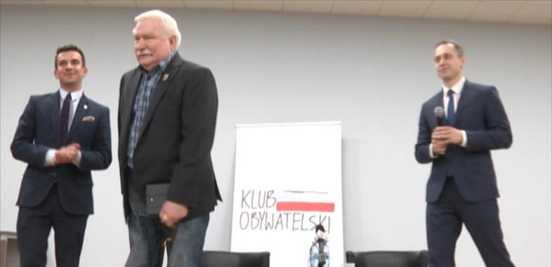 Wizyta Lecha Wałęsy w Sieradzu