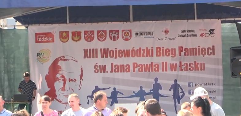 Bieg Pamięci Jana Pawła II w Łasku