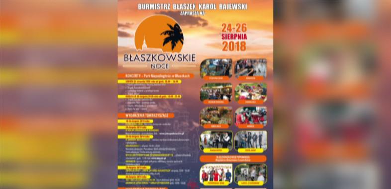 Błaszkowskie Noce 2018 – ogłoszenie