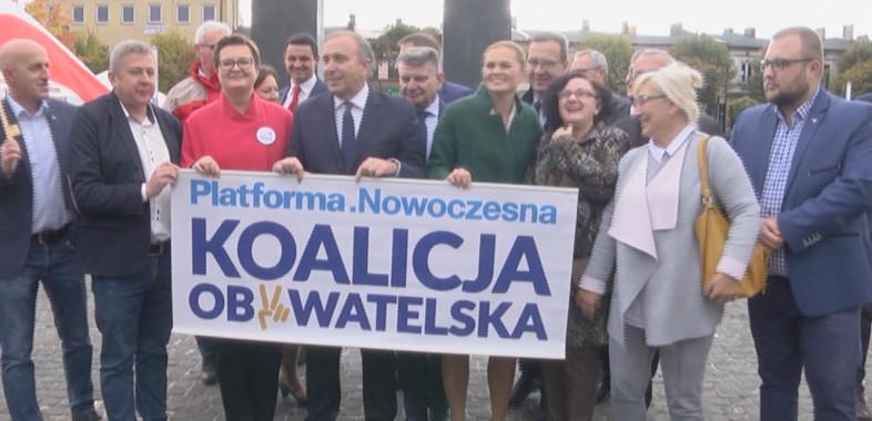Spotkanie przedstawicieli Koalicji Obywatelskiej w Łasku