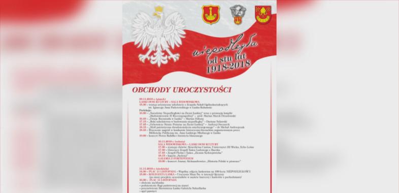 Obchody 100-lecia Odzyskania przez Polskę Niepodległości w Łasku