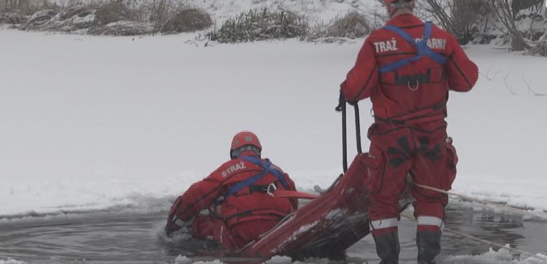 Zimowe ćwiczenia Straży Pożarnej