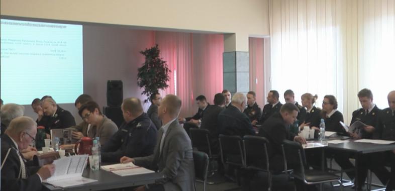 Odprawa roczna Straży Pożarnej w Łasku