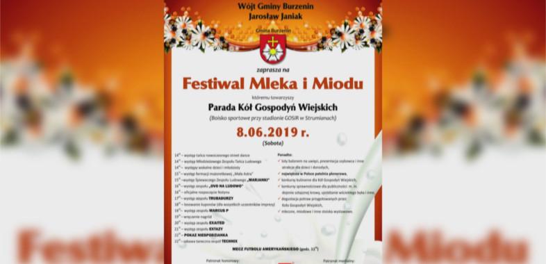 Festiwal Mleka i Miodu w Burzeninie 2019 – zapowiedź