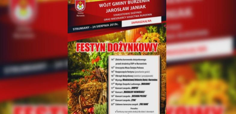 Festyn Dożynkowy w Burzeninie – zaproszenie