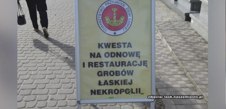 Kwesta na cmentarzu w Łasku