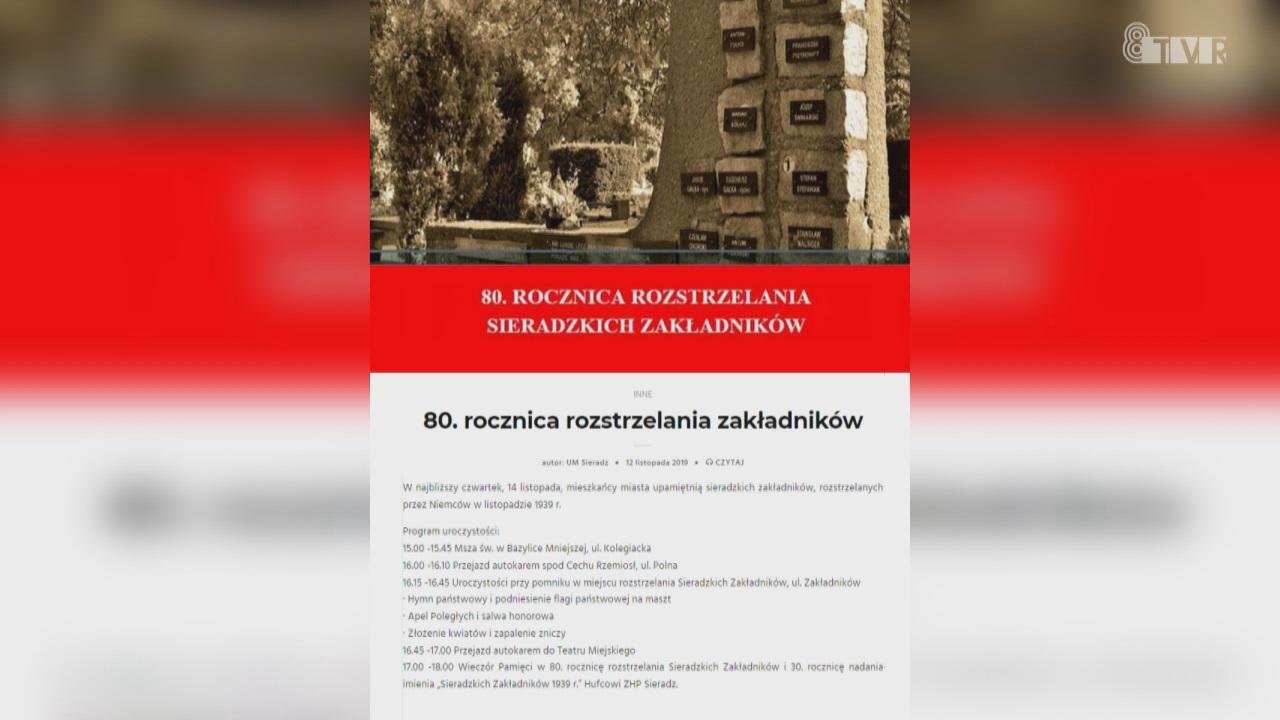 80. Rocznica Rozstrzelania Sieradzkich Zakładników – ogłoszenie