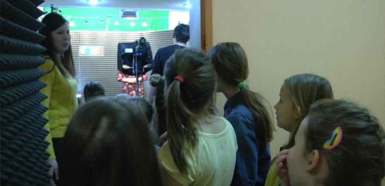 Wizyta dzieci w naszej redakcji.