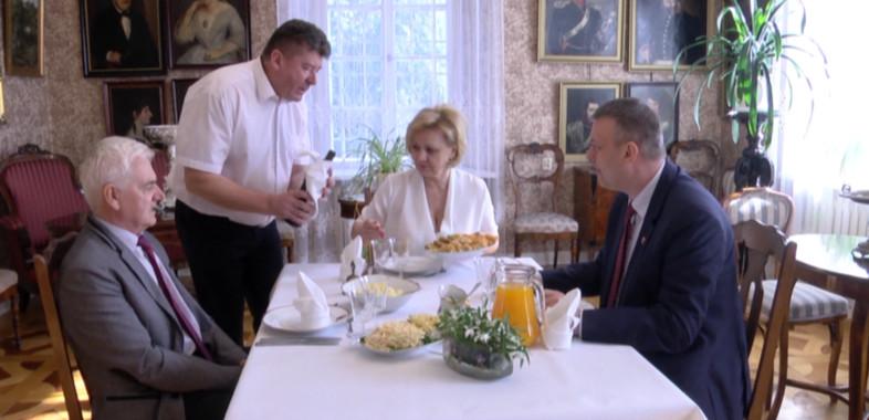 Wylicytowany obiad ze starostą Sieradzkim