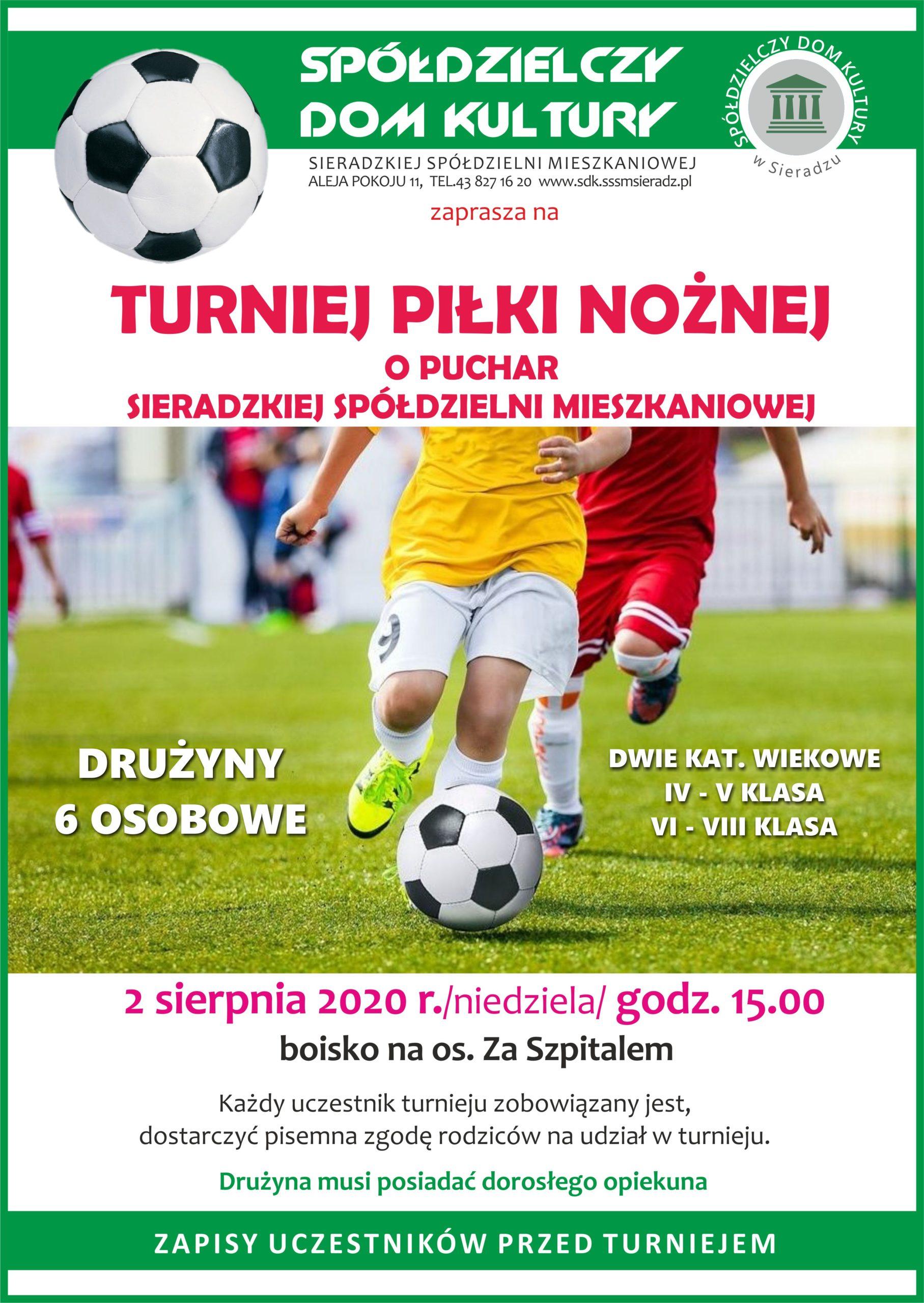Turniej piłki nożnej – ogłoszenie SDK w Sieradzu