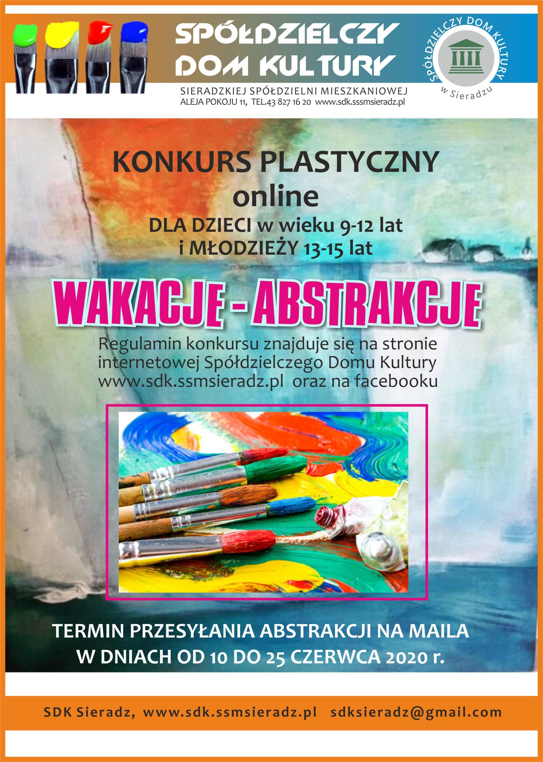 Konkurs plastyczny wakacje-abstrakcje