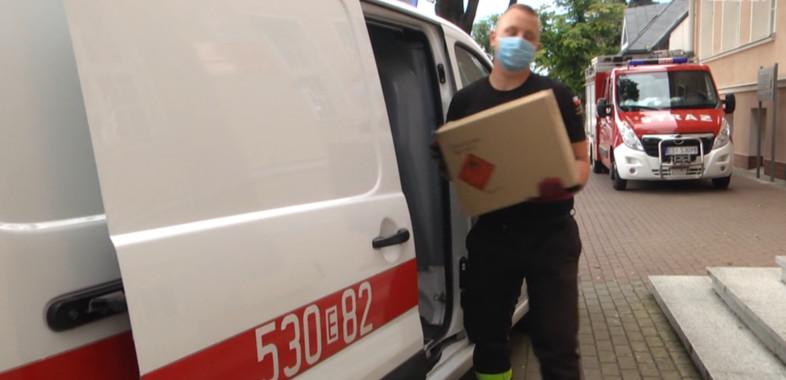 Środki ochrony osobistej dla Szkół Powiatu Sieradzkiego