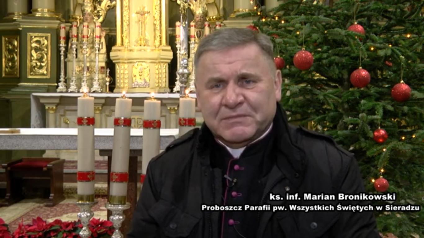 Życzenia ks. inf. Mariana Bronikowskiego