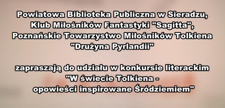 """Konkurs literacki """"W świecie Tolkiena   opowieści inspirowane Śródziemiem"""" – ogłoszenie"""
