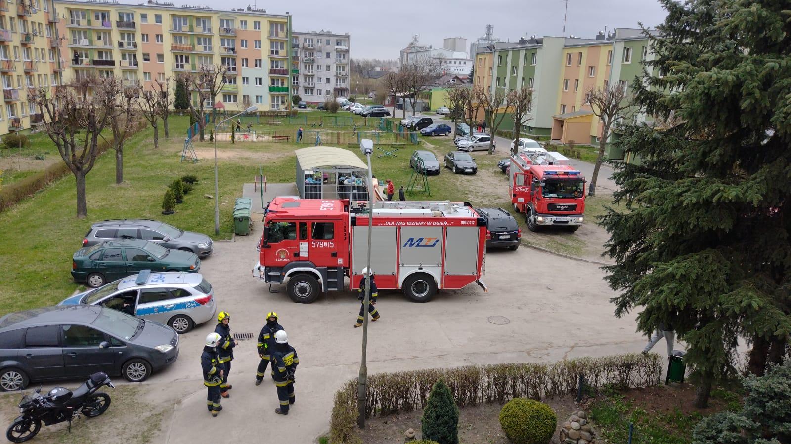 Wybuch gazu w bloku w Szadku