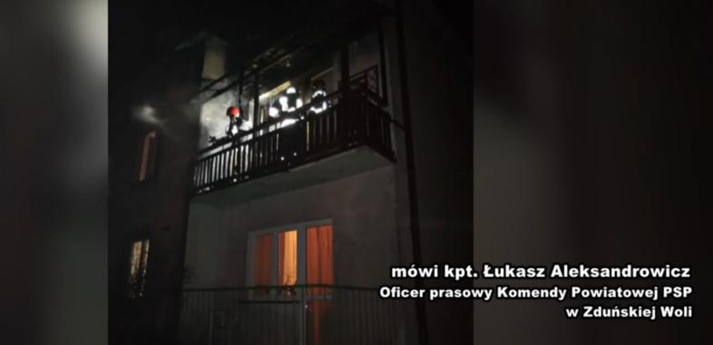 Pożar balkonu w Karsznicach