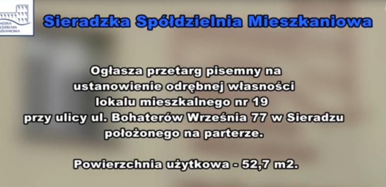Ogłoszenie SSM – przetarg na mieszkanie przy ul. Bohaterów Września