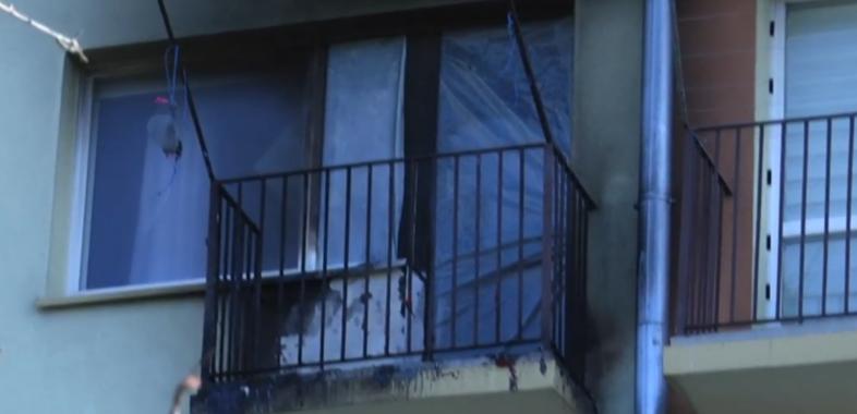 Pożar przy Alei Pokoju w Sieradzu