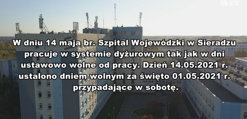 Ogłoszenie Szpitala Wojewódzkiego w Sieradzu