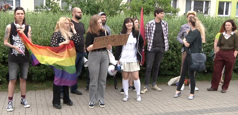 Protest przed wizytą Ministra