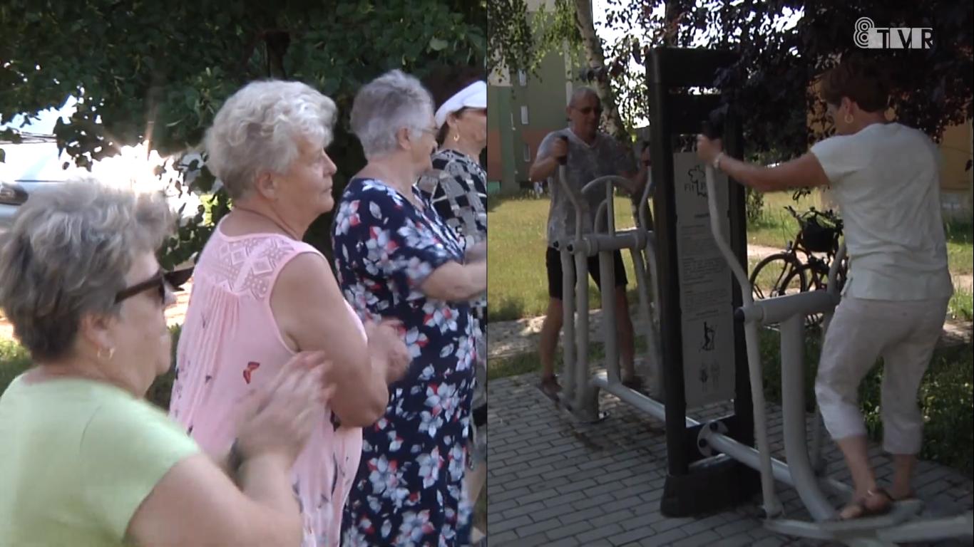 Gimnastyka i siłownie zewnętrzne dla dziadka i nastolatka