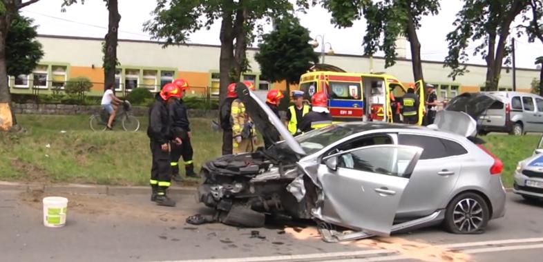Wypadek nietrzeźwego na Krakowskim Przedmieściu
