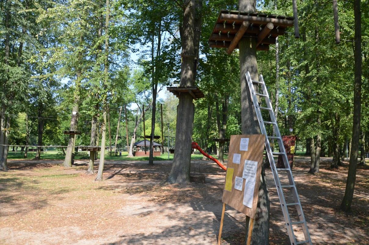 Park linowy otwarty w dwa wrześniowe weekendy