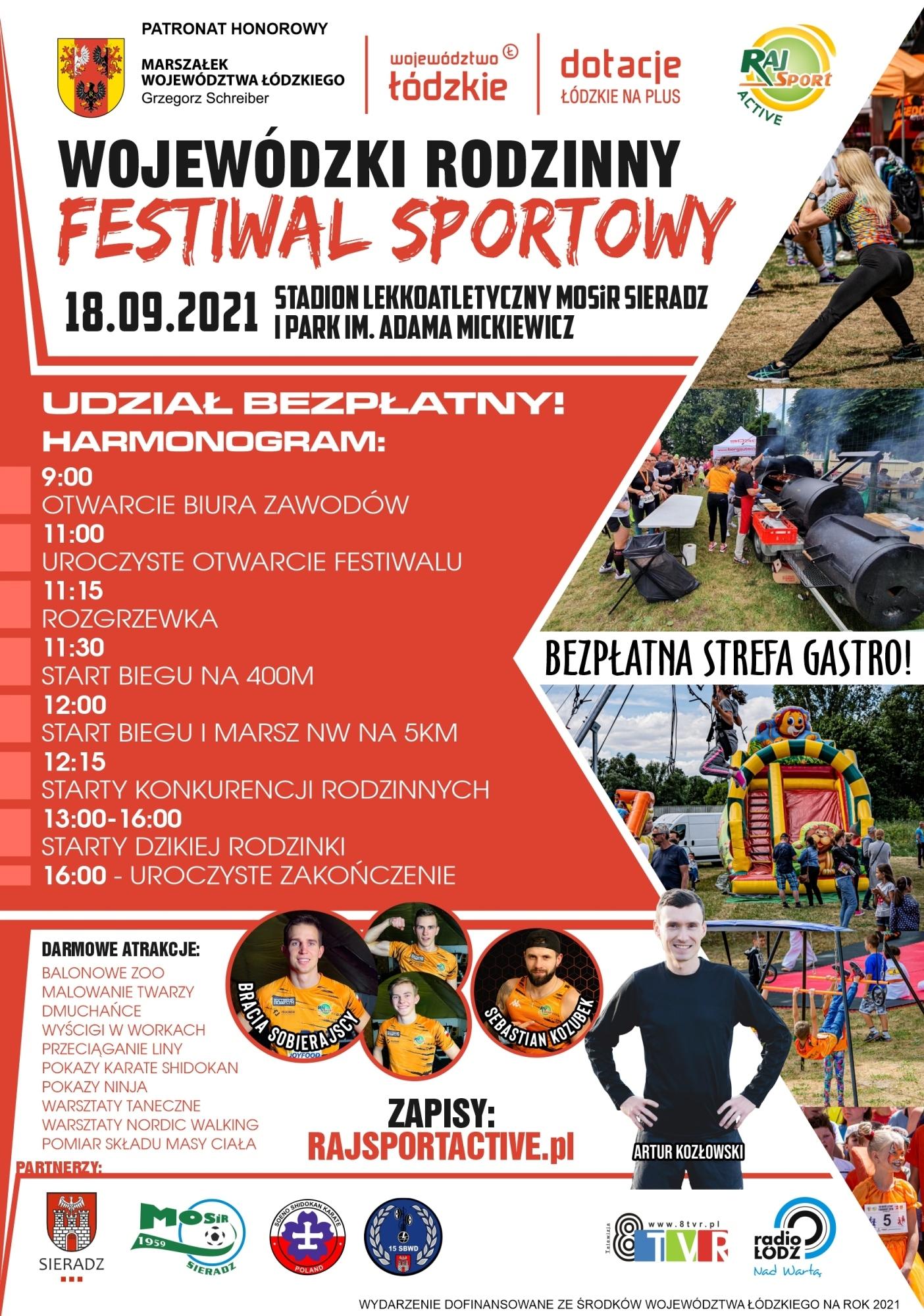 Wojewódzki Rodzinny Festiwal Sportowy – ogłoszenie